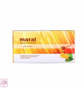 موم وکس جعبه ای عسلی مارال - 500 گرمی ( مخصوص موهای نرمال )
